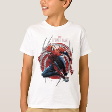 Marvel's Spider-Man | Web Swing Street Art Graphic T-Shirt