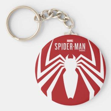 Marvel's Spider-Man   White Spider Emblem Keychain