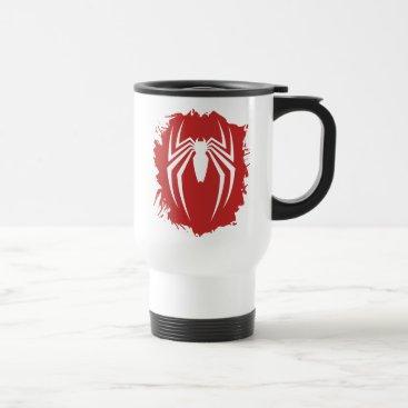 Marvel's Spider-Man   White Spider Emblem Travel Mug