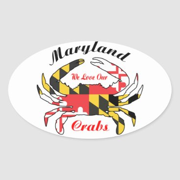 Maryland flag blue crab car decal sticker