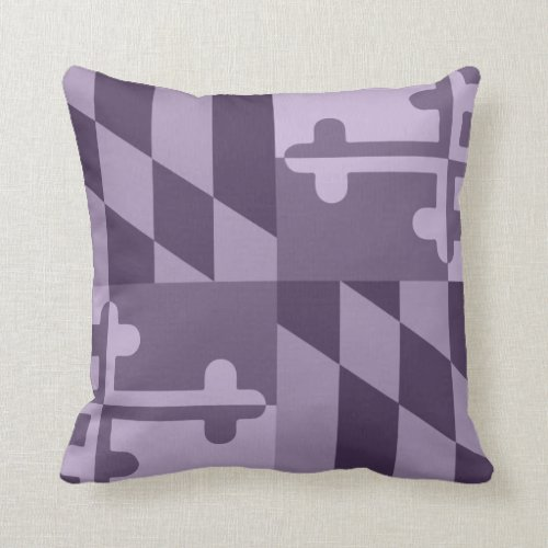 Maryland Flag Monochromatic Pillow