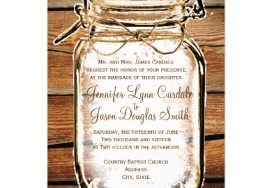 Rustic Wedding Invitations Announcements Zazzle