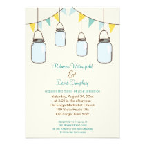 Mason Jars Country Theme Wedding Invitation