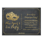 MASQUERADE New Year Years Eve Party Mask Invite