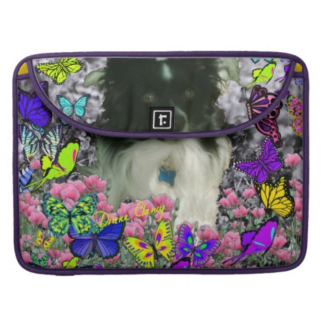Matisse in Butterflies II - White & Black Papillon Sleeve For MacBook Pro
