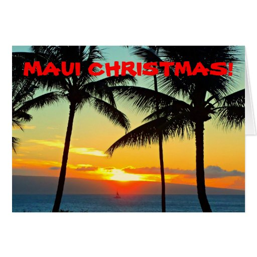 MAUI CHRISTMAS MERRY CHRISTMAS ISLAND STYLE CARD Zazzle