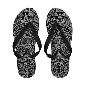 Mayan Calendar Flip Flops