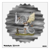Mechanical Dragon Wall Decal | Zazzle