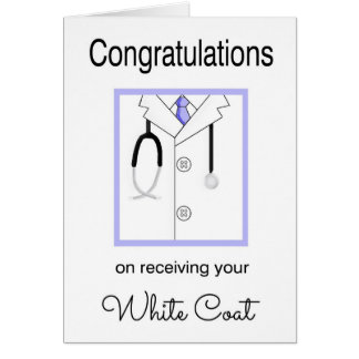 White Coat Congratulations Cards, White Coat