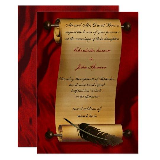 Medieval Scroll Vintage Invitation Zazzle