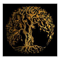Mehndi Tree of Life (Gold) Poster
