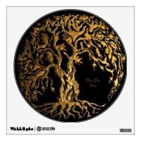 Mehndi Tree of Life (Gold) Wall Decal | Zazzle
