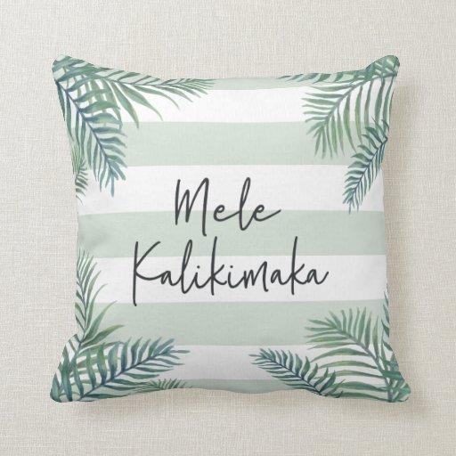 Mele Kalikimaka | Hawaiian Christmas Throw Pillow