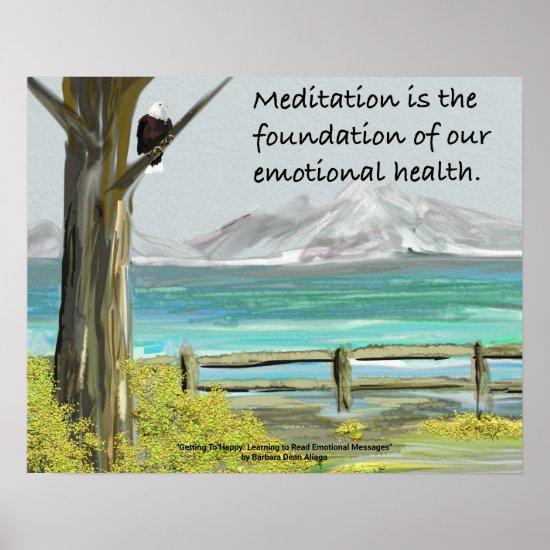 Meme Meditation is the Foundation Poster
