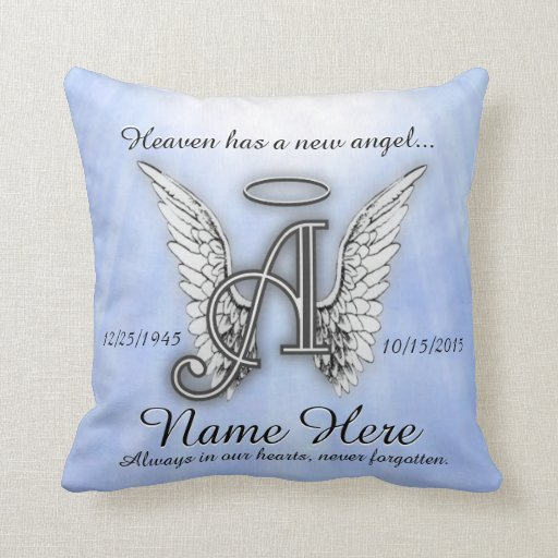 Memorial Comfort Pillow  Zazzle