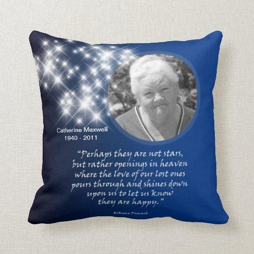 Memorial Pillow Stars openings in heaven  Zazzle