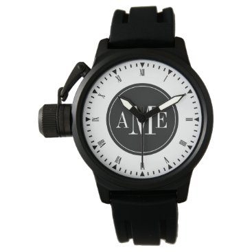 Men's Classy Monogram Watch