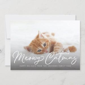 Meowy Catmas Cat Pet Holiday Photo Card