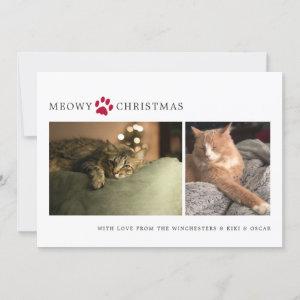 Meowy Christmas Photo Holiday Card
