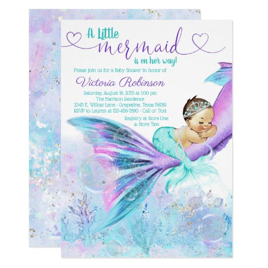 Mermaid Baby Shower Invitation