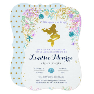 Mermaid Baby Shower Invitation