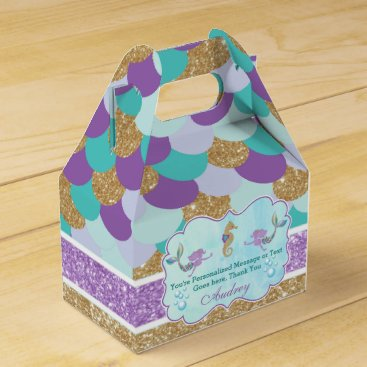Mermaid Birthday Party Personalized Favor Box