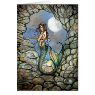 Mermaid Fairy Card Notecard by Molly Harrison