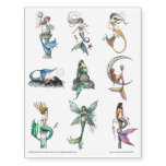 Mermaid Fantasy Art Temporary Tattoos