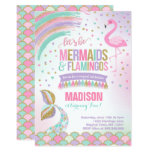 Mermaid & Flamingo Birthday Invitation Magic Party