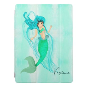 Mermaid Green Tail  Blue Girls Personal  iPad Pro Cover