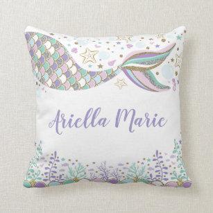 mermaid decorative throw pillows zazzle