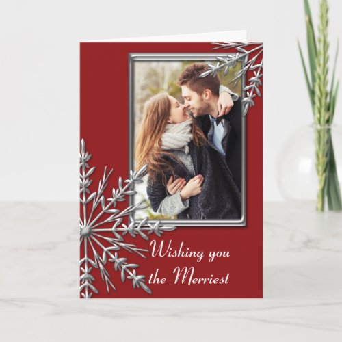 Merry Christmas and Wedding Save the Date Holiday Card