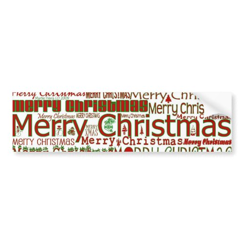 Merry Christmas Bumper Sticker bumpersticker