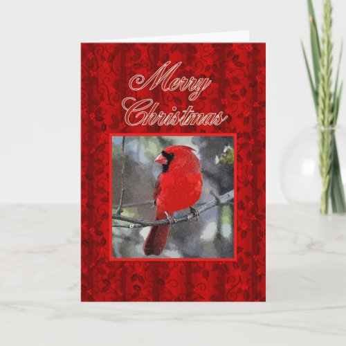 Merry Christmas Cardinal Greeting Card card