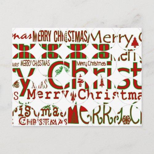 Merry Christmas Circle Postcard postcard