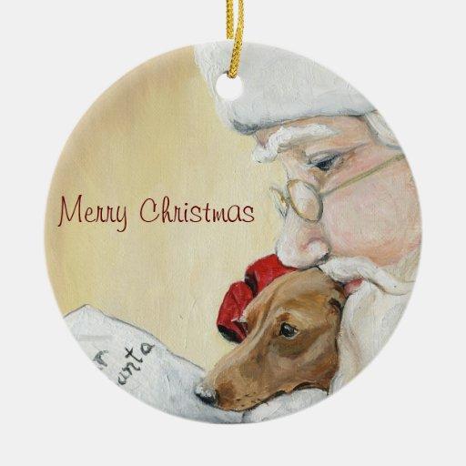 merry christmas dachshund & santa