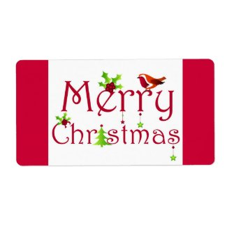 Merry Christmas - Label label