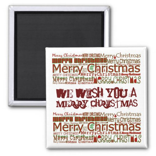 Merry Christmas Magnet - Personalize magnet