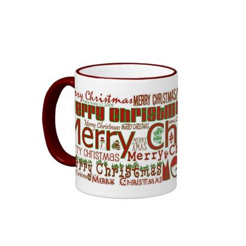 Merry Christmas Mug - Red Ringer mug