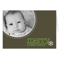 Merry Christmas - Photo Greeting Card Template