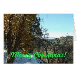 Merry Christmas San Bernardino Mountains Card