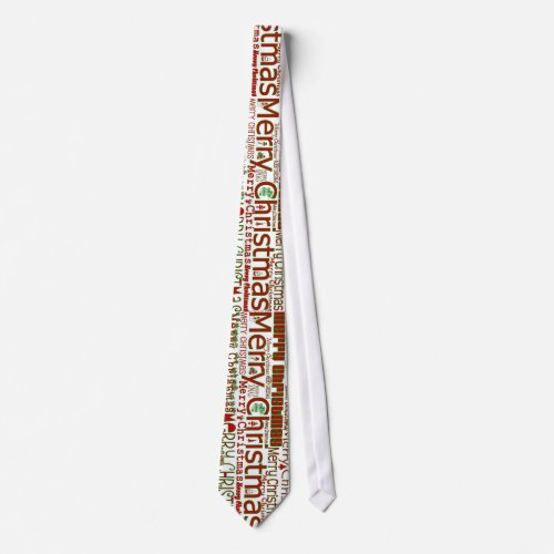 Merry Christmas Tie - Larger Design tie