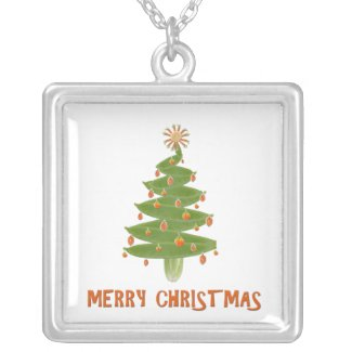 Merry Christmas Tree necklace