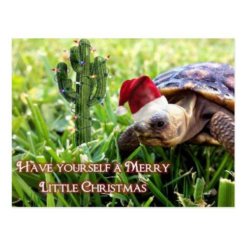 Merry Little Christmas - Desert Tortoise Postcard