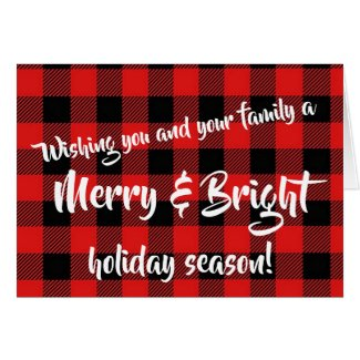 """""""Mery and Bright"""" Holiday Christmas Cards"""