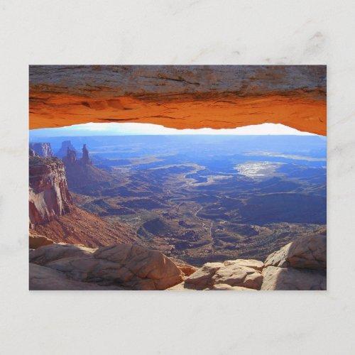 Mesa Arch at Sunrise Postcard postcard