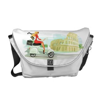 Messenger crossbody bag with motorino in Rome
