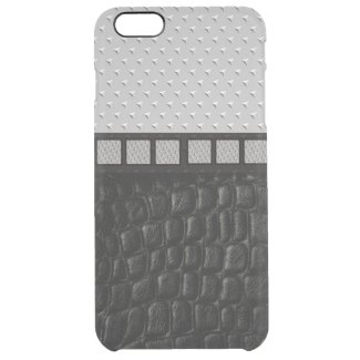 Metal Spikes Leather Uncommon Clearly™ Deflector iPhone 6 Plus Case