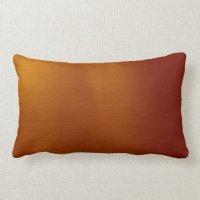 Metallic Copper Throw Pillow | Zazzle