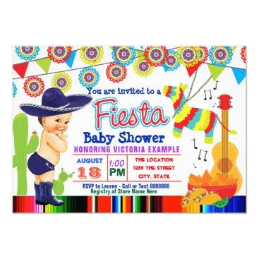 Mexican Fiesta Baby Shower Invitations Baby Boy